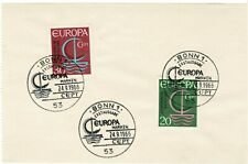 West Germany Europa stamps 1966, First Day Cancellation (24-9-1966), on paper