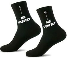 MR PERFECT Socks for Husband Teacher Father Dad Friend Novelty Anniversary Gift