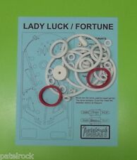 1976 Recel / Petaco Lady Luck / Fortune pinball rubber ring kit