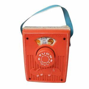 CREEPY Vintage Fisher Price Jack & Jill Pocket Radio Music Box Horror Film Song