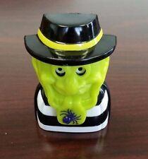 1998 McDonalds #6 HAMBURGLAR Green Black Candy Dispenser with Spider Chin Mask