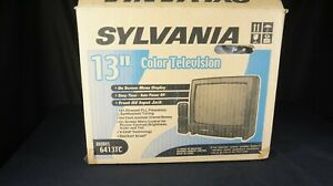 """Brand New in Box SYLVANIA 13"""" CRT TV with FRONT RCA JACKS w/ Remote & Manual"""