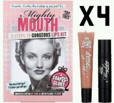 Soap & Glory Mighty Mouth Lip Stick Gloss Set Kit X4 Xmas Gift Fastp&p Full Lips