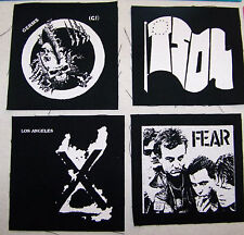 GERMS TSOL X FEAR darby crash john doe lee ving punk rock Jacket PATCH set