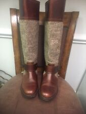 JUICY COUTURE TALL BROWN LEATHER BOOTS SIZE 7