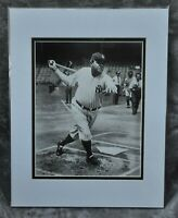 """Babe Ruth New York Yankees Great B&W Photo 11"""" x 14"""" Double-Matted New"""