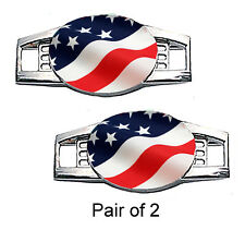 USA Flag Shoe Charms / Paracord Charms (Waving)