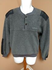 CABELA'S FLEECE SHIRT TOP POLARTEC VINTAGE GRAY SOLID  MEN'S M