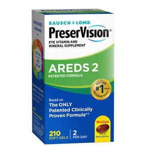 PreserVision Eye Vitamin & Mineral Supplement AREDS 2 Formula AMD, 210 Softgels