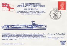 5RNCH14a Operation Sunfish HMS Emperor Signed C Madden in action .