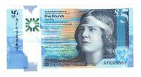 Vintage Banknote Scotland UNC 2016 Polymer 5 Pounds Sterling Pick 370