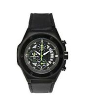 NEW Ulysse Girard 14096 Men's Dionne Watch Green Accented Dial Chronograph Black