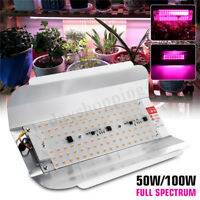 Full Spectrum 50W 100W LED Plant Flower Grow Flood Light Outdoor Spotlight
