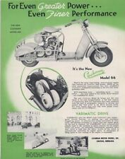 Cushman scooter model 64 1949 depliant originale motorcycle brochure