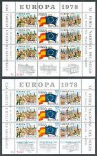 ESPAÑA 1978 - XI FERIA NACIONAL DEL SELLO - 3 HOJAS RECUERDO - EUROPA 1978