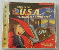 Where In The Usa Is Carmen Sandiego - Disc & Manual-1999 The Learning Center