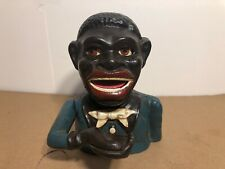 Jolly Bank Black Americana Mechanical Bank Nice Paint 1896 JE Stevens
