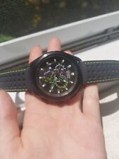 citizen eco-driveAT7035-01E black and green watch for men in amazing condition