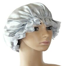 Lace 100% pure mulberry silk Women Night Sleep Cap Elastic Bonnet Hat
