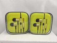 Headphones estilo Xiaomi Piston 2 auriculares, gold, earphones aluminum verde