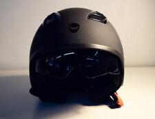 Helmo Helm Helmet schwarz matt black GR L Buenos Aires Jethelm Halbschale