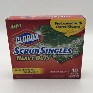 NEW Box Clorox Cleaner Scratch Free Scrub Singles Heavy Duty Radiant Clean