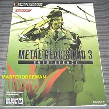 PS2 Metal Gear Solid 3 Subsistence New Official Strategy Guide Book