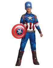 """CAPITAN AMERICA Dlx bambini Avengers Costume, Medio, età 5 - 7, altezza 4' 2"""" - 4' 6"""""""