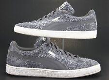 Puma Suede Elemental Women's Shoes Size 11 361112-01 Steel Gray - White Sneakers