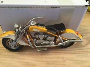 Vintage Look Harley Davidson Motorbike Retro Metal Fridge Magnet New 21 cms Long
