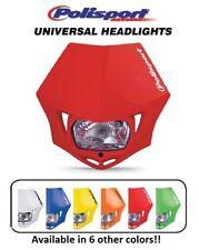 Polisport Red MMX Universal Headlight Dirtbike Motocross Bike Suzuki