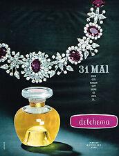 PUBLICITE ADVERTISING  1964   REVILLON   parfum DETCHEMA