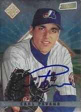 Carl Pavano Montreal Expos 1998 Topps Stadium Club Signed Rookie Card