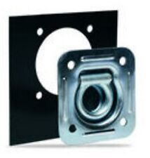 Pack of 4 - RECESSED TIE DOWN D RINGS with Mounting Plate