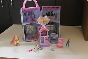 lot Fisher Price Sweet Streets Pet Shop parlor groomer doll house horse dog