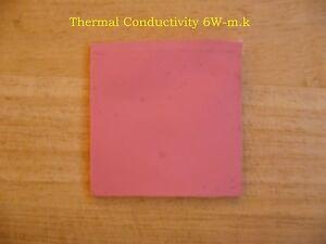 Pad termico adesivo 25×25×2 mm GPU Chip CPU Heatsink Compound Pad