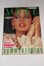 Vogue Magazine June 1983, Men's Fashion/Princess Diana Tour/Chanel Fashion