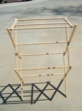 WOOD FOLDING CLOTHES DRYER RACK LAUNDRY SOCK 31 INCH