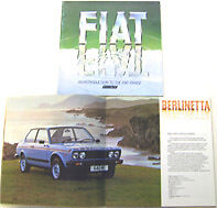 FIAT 126 127 128 strada x / 19 131 132 1979 ORIGINALE UK SALES BROCHURE