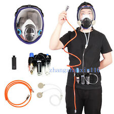 3 In1 Function Supplied Air Fed Respirator Kit System for 3M 6800 Face Gas Mask