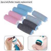 2Pcs Hard Skin Refill Replacement Rollers Heads Electric Pedicure MachinePY