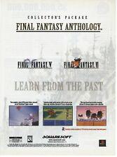 Final Fantasy Anthology (V & VI) Print Ad/Poster Art Playstation 1 PS1