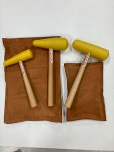 BEATING BAGS (2 bags) and 3 MALLETS for PANEL BEATING, CUSTOM METAL FABRICATION
