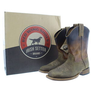 Red Wing Western Boots Men's Irish Setter Deadwood 4825 Brown Leather Boot