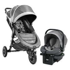 Baby Jogger 2016 City Mini GT Travel System Steel w/ Stroller & City Go Car Seat