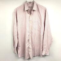Peter Millar Shirt XL Mens Check Plaid Button Front Pocket Long Sleeve Cotton