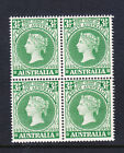 3 1/2d SOUTH AUSTRALIA STAMP CENTENARY VARIETY BW 330d IN MUH BLOCK OF 4