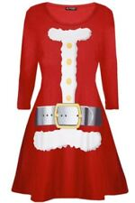 Santa Claus Long Sleeve Dresses (2-16 Years) for Girls