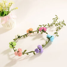 Mixed Color Bride Boho Flowers Headband Garland Festival Wedding Crown Hair Band