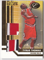 2007-08 Bowman Elevation Relics Patches Dual #TT Tyrus Thomas Jersey Patch #5/9